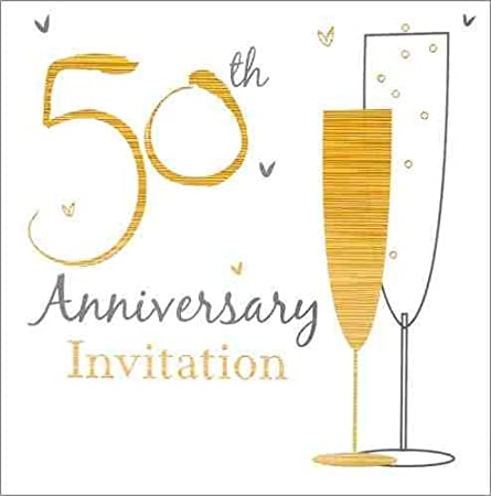 Pack of 3 simon elvin golden wedding anniversary invitation 50th pack of 3 simon elvin golden wedding anniversary invitation 50th anniversary invitation cards stopboris Gallery