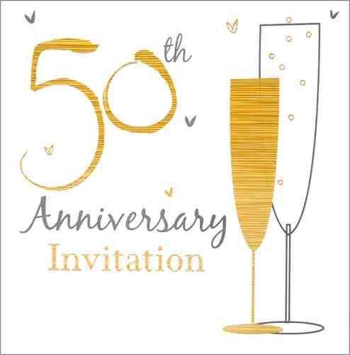 PACK OF 12 - Simon Elvin aniversario de boda invitación - 50 ...