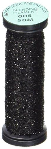 Kreinik Blending Filament 50m Metallic Thread for Sewing, 55-Yard, Black