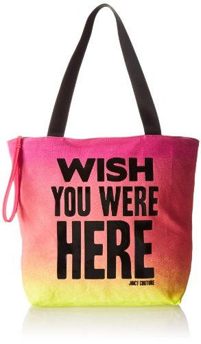 Juicy Couture Tote Handbag - Juicy Couture wish You Were Here Juicy Graphics Travel Tote,Multi,One Size