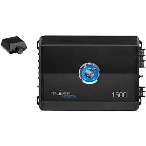 Planet Audio PL1500.1M  Pulse 1500 Watt, 2 Ohm Stable Class A/B, Monoblock, Mosfet Car Amplifier with Remote Subwoofer Control