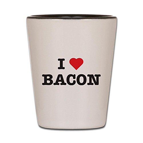 CafePress - I Heart Bacon - Shot Glass, Unique and Funny Shot Glass]()