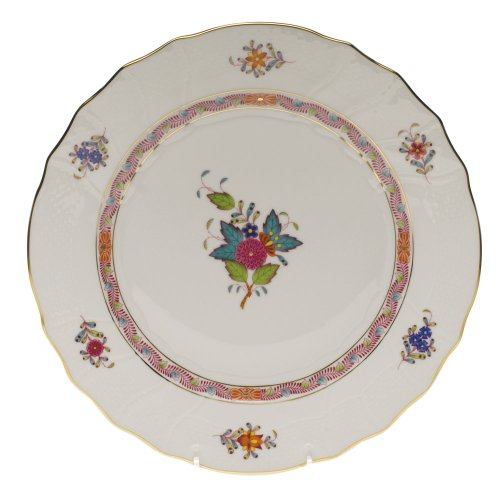 (Herend China Chinese Bouquet Multicolor Dinner Plate)