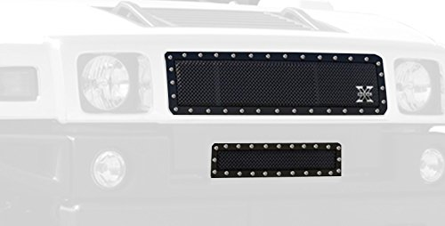 T-Rex Grilles 6712901 X-Metal Series Black Steel Studded Main Grille