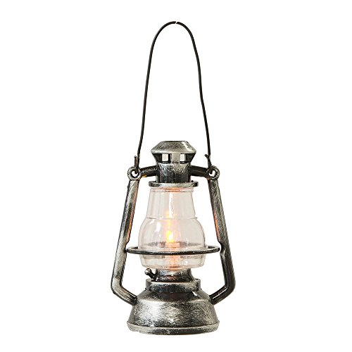 Lighted LED Lantern Silver-colored Hanging Christmas Ornament