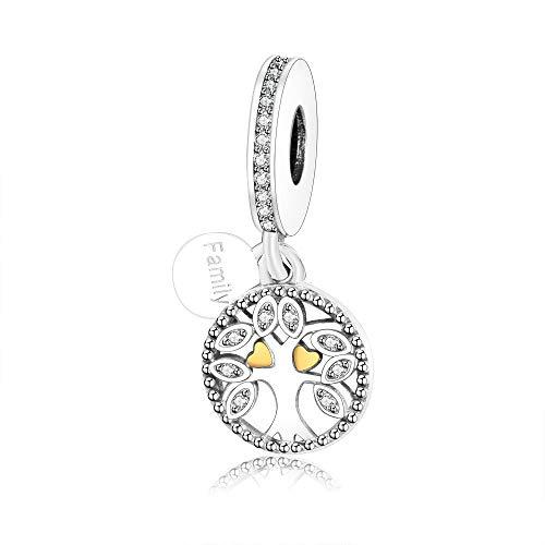 f76d43cb6 Ochoos Fit Original Pandora Charm Bracelets 925 Silver Charms Warming  Family The Tree of Life Beads
