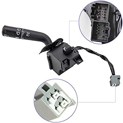 Ensun Headlight Turn Signal Wiper Dimmer Combination Lever Switch for 2005-2008 Ford F150 Trunk Replaces 5L3Z13K359AAA
