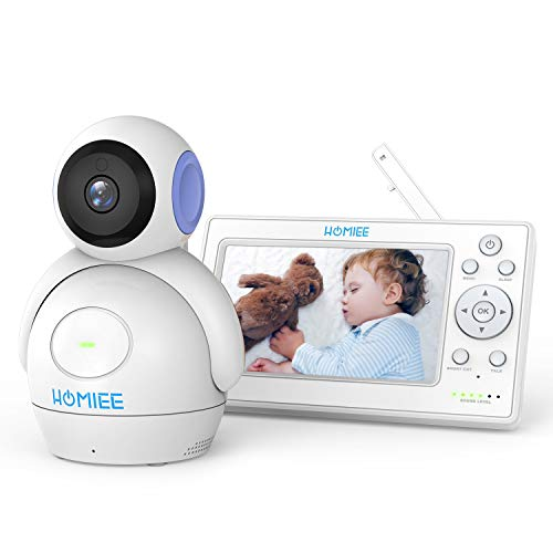 HOMIEE 720P Wireless Video Baby Monitor with 5