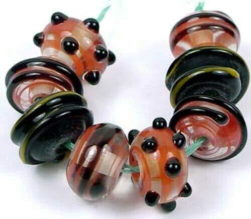 8 Lampwork Handmade Beads Halloween