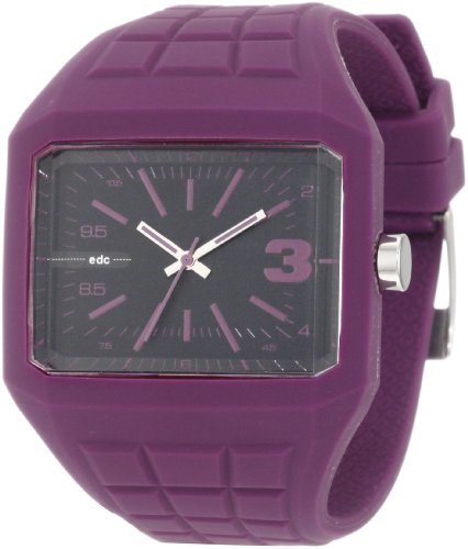 edc by esprit Men's EE100571004 Rubber Rebel Crazy Purple Watch