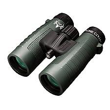 Bushnell Binocular Bundle: Trophy XLT Roof Prism Binoculars, 10x42mm, Green