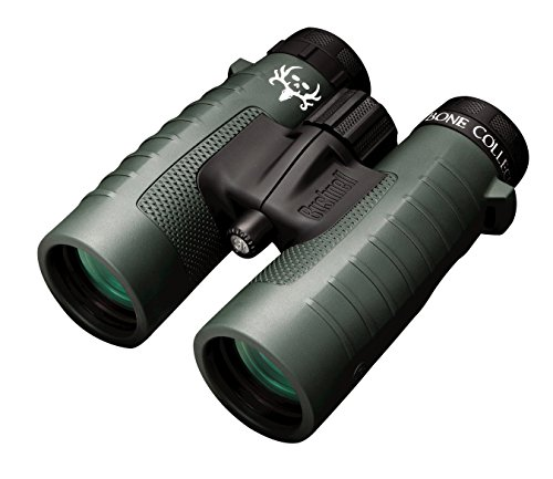 Bushnell Binocular Bundle: Trophy XLT 10x42 Binoculars (Bone Collector Edition) + Deluxe Binocular Harness (Best Size Binoculars For Birding)