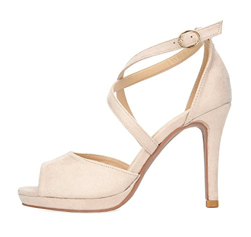 PAIRS Heel Sandals 10 Stiletto Pump Dress Women's nude DREAM vdUwBqgw