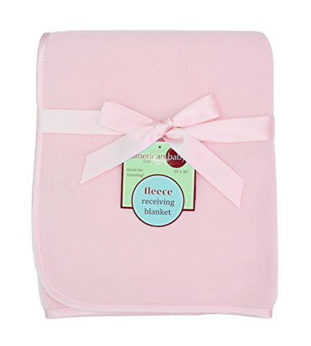 """UPC 656173330132, American Baby Company Fleece Blanket, Pink, 30"""" x 30"""""""