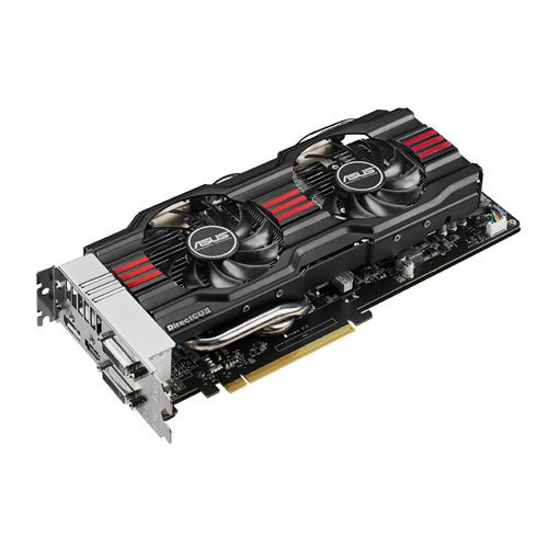 ASUS GTX770-DC2OC-2GD5 GeForce GTX770 2GB GDDR5 256-bit, DVI-I/DVI-D/ HDMI/DP PCI-Express 3.0 SLI ready Graphic Card OC-selected 1110MHz core