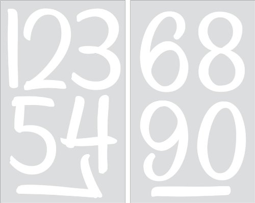 SEI 4-Inch Numbers Iron on Transfers, White, 2 Sheets