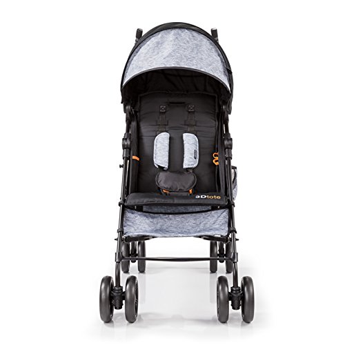 Summer Infant 3Dtote Convenience Stroller, Orange Heather Gray
