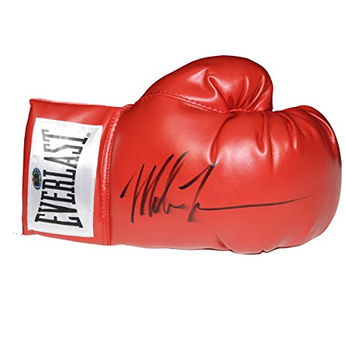 Mike Tyson Signed Boxing Glove White Everlast Patch
