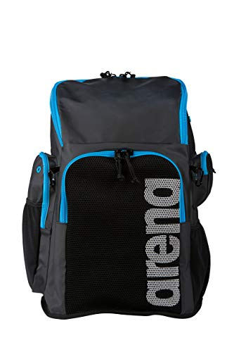Arena Team 45 Backpack, Black/Cyan (Best Swim Bag 2019)