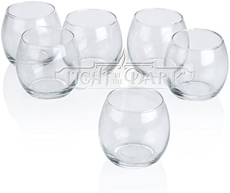 Light In The Dark Clear Glass Hurricane Votive Candle Holders Set of 72