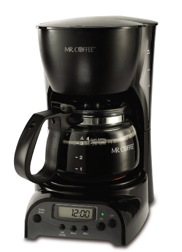Mr. Coffee DRX5 4-Cup Programmable Coffeemaker Black