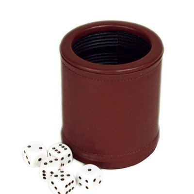 Genuine Leather Dice Cup