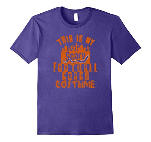 Mens This Is My Scary Football Coach Tshirt Men Halloween Costume XL Purple