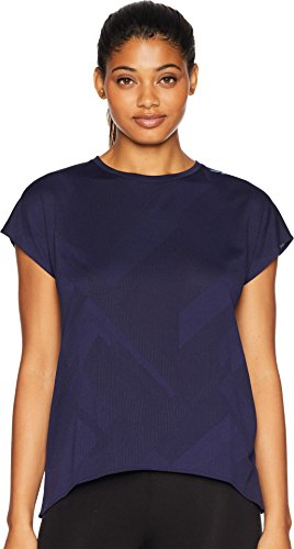 Brooks Women's Array Short Sleeve Shirt Navy Eclipse Jacquard Medium