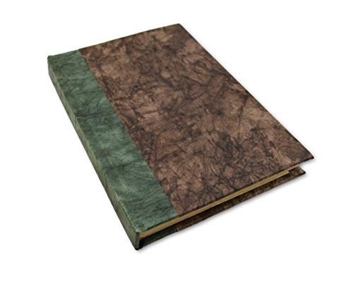 Nepali Eco Writing Journal with Vintage Handmade Lokta Paper, Clean-cut, Made in the Himalayas of Nepal, 6x9 Inches (Walnut, - Lokta Paper Handmade