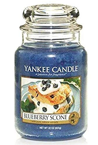 Blueberry Scone - Yankee Candle Blueberry Scone Large Jar Candle, Food & Spice Scent