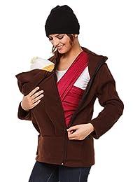 Happy Mama. Womens Maternity Fleece Hoodie Duo Top Carrier Baby Holder. 031p