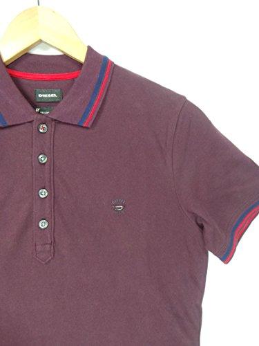 Diesel, T-Oin, Herren-Polohemd, Kontrastfarbe am Kragenrand, violett