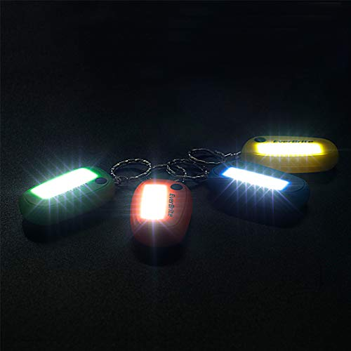 EverBrite Keychain Flashlight, 4-Pack Mini Ultra Bright Key Ring LED Torch 3-Mode, Batteries Included, Assorted Colors