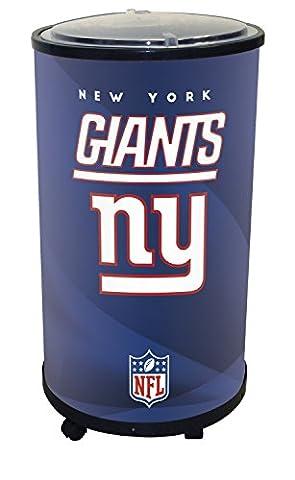 NFL New York Giants Ice Barrel Cooler, Black, 19