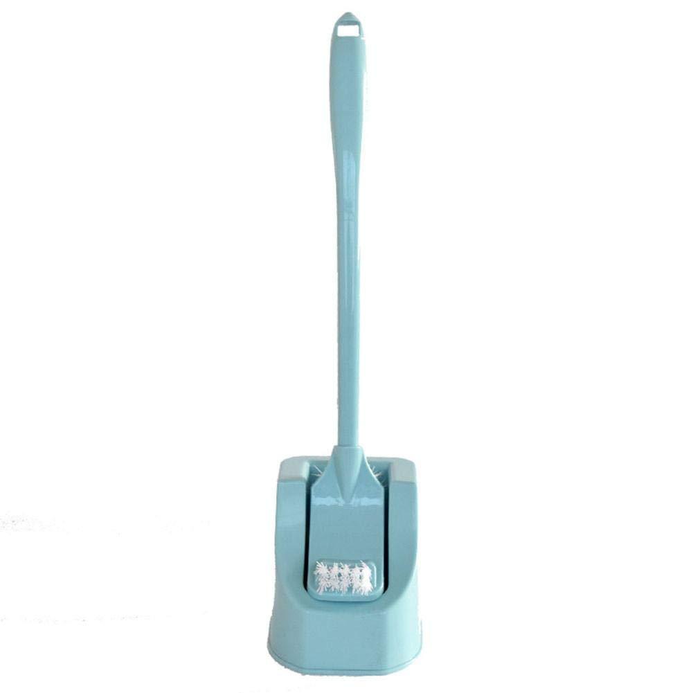 Eruditter Brosse de Toilette innovante pour Nettoyer Les Toilettes avec Support, Brosse de Toilette Douce, Accessoires de Salle de Bain