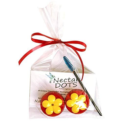 - Nectar Dots Hummingbird Feeder Kit - Feed Right from Your Hand! Includes Easy Instructions and Cleaning Brush!