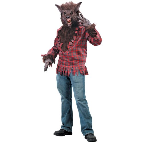 Brown Adult Werewolf Costume -