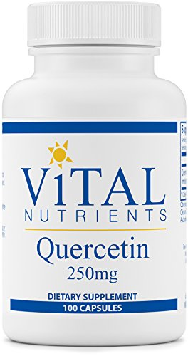 Vital Nutrients Quercetin 250 mg Respiratory & Sinus Support 100 Capsules