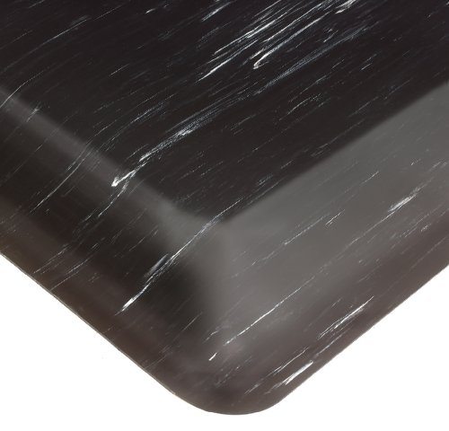 Tile Top Anti Fatigue Mat - Wearwell PVC 420 SpongeCote Tile-Top Anti-Microbial Mat, Safety Beveled Edges, for Dry Areas, 2' Width x 3' Length x 1/2