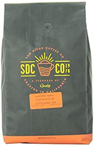 San Diego Coffee Ground Roasted Coffee, Guatemala Organic, 80 Ounce