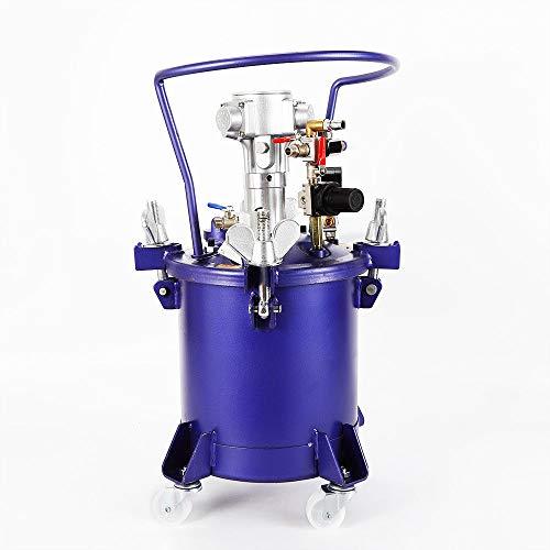 2.5 Gallon Pressure Feed Paint Pot Tank Spray Gun Sprayer Regulator Air Agitator Commercial Pneumatic Paint Pressure Spray Paint Pot Tank