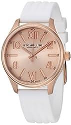Stuhrling Original Women's 565L.03 Ascot Variance Swiss Quartz Rose Tone Dial Watch