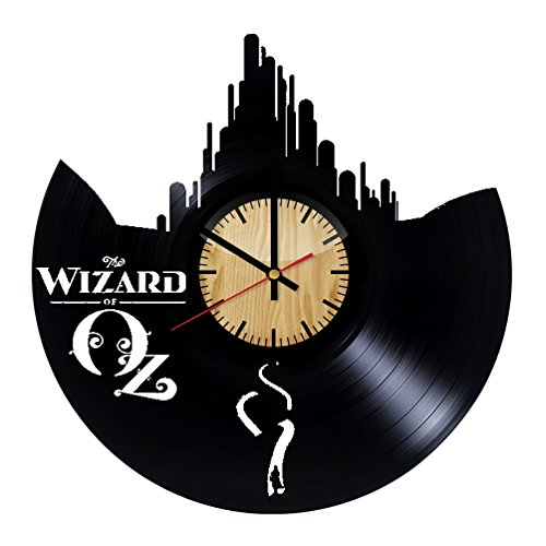 Wizard of Oz Design Vinyl Wall Clock – Handmade Gift for any Occasion – Unique Birthday, Wedding, Anniversary, Wall Décor Ideas for any Space ()