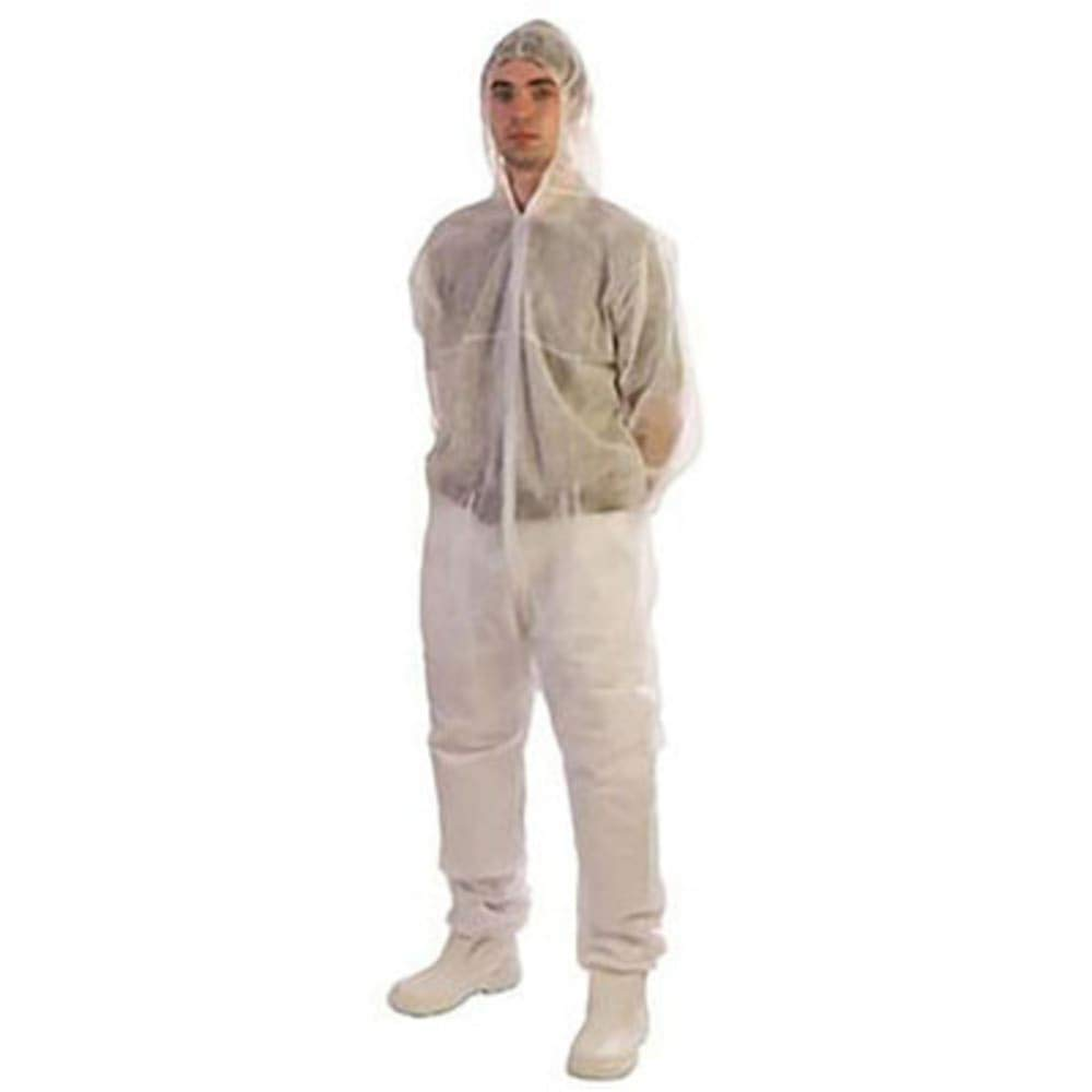 RS Pro Cat 1 White Coverall; XXL; pk 10, Pack of 2
