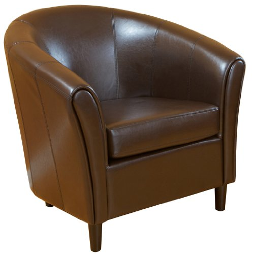 Best Selling Napoli Brown Leather Chair