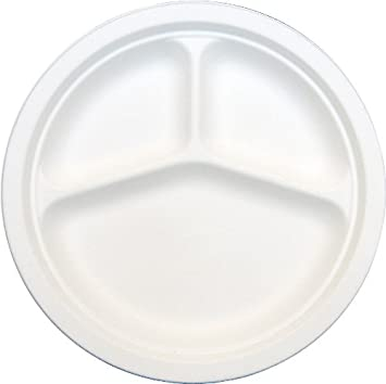 thali outlet 125 x round 10 white 3 compartment section strong