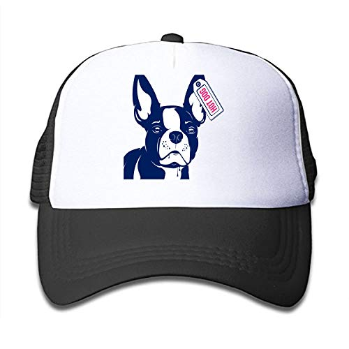 Bulldog-hot-Dog Kids Trucker Hat Baseball Cap is Available in Baby, Toddler, and Youth Sizes