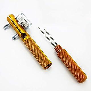 HATCHMATIC 1PCS Pesca Tier Strumento a Due Punte Nodi di Cravatta Oro Lenza legatore Savage Pesce Tie: Oro