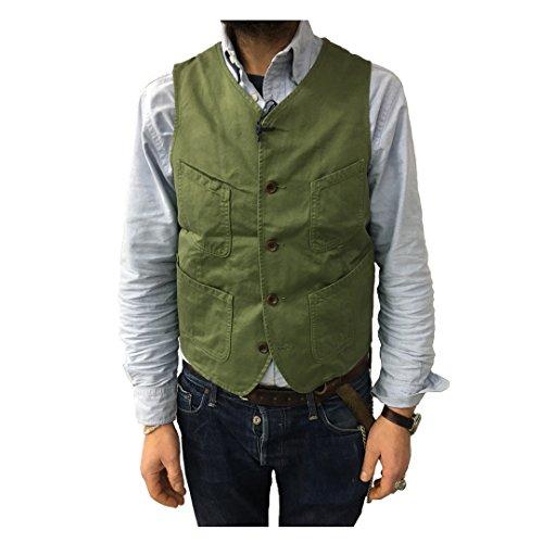 MANIFATTURA CECCARELLI gilet uomo verde mod 6908 100% cotone MADE IN ITALY vestibilità slim
