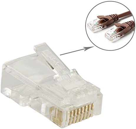 Gold Internet Cable 100 PCS High-Performance RJ45 Connector Modular Plug 3u 3 Feet LAN Cable